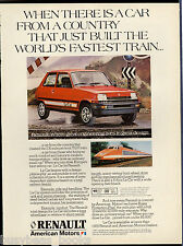 1982 RENAULT Le CAR advertisement, AMC, with French TGV train