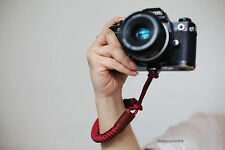 cool Dark red Chinese knot 16mm  handmade Camera wrist band Generic SLR/DSLR