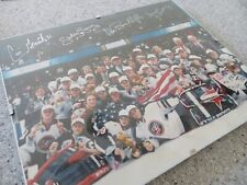 """1998 Women's OLYMPIC ice hockey gold medal signed 8""""x10"""" picture w/COACH SMITH"""