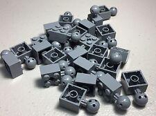New LEGO Dark Bluish Gray Technic Brick Modified 2x2 Ball & Axle Hole 57909b x25