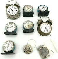 Soviet RAKETA Desktop Alarm Vintage Mechanical USSR Clock PARTS Original LOT 7ps