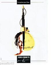 PUBLICITE ADVERTISING 115  1988  Nino Cerruti  parfum pour femme
