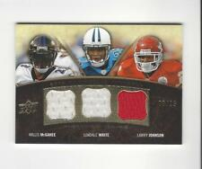 2008 UD Premier Trios Willis McGahee/LenDale White/Larry Johnson JERSEY /25