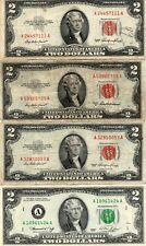 Lot (4 OF OLD  Currency  AVE CIRCULATED