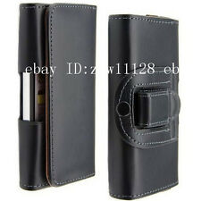 Cell Phone Leather Case Holster Belt Clip Black Pouch for iPhone 5 5G 5S