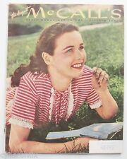 McCall's Magazine August 1945 Vintage Good- Grade Fashion Post WWII