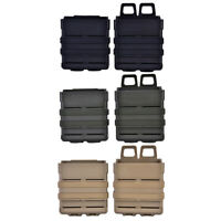 FMA Tactics Fast Mag Pouch Set Holster 7.62 Magazine Mag Double Molle System BG