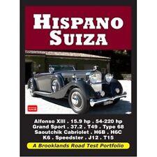 Hispano Suiza Cartera de prueba de carretera libro papel