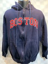 BOSTON Zip Front Fleece Hooded Jacket Men's Size M