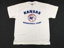 NEW adidas Kansas Jayhawks - White Cotton Short Sleeve Shirt (M)