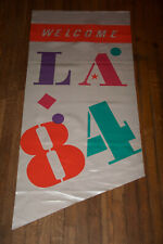1984 Los Angeles LA Olympics Welcome Flag Banner