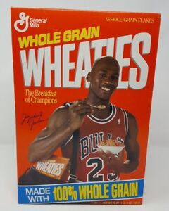 1992 WHEATIES CEREAL MICHAEL AIR JORDAN CHICAGO BULLS MINT SEALED 18 OZ BOX MIB!