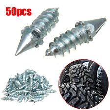 50Pcs Screw Tire Stud Spikes Racing Track Tire Ice Studs for Snowmobile ATV Car