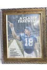 Vintage News Photo Peyton Manning Retires Framed 2012 Colts Stadium Farewell Day