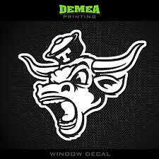 "Vintage Retro Texas - Longhorns - 2 - NCAA - White Vinyl Sticker Decal 5"""