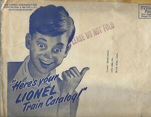 1947 Lionel Corporation Here's Your Lionel Train Catalog Mailing Envelope 8 x 11
