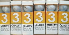 Quality Recycled Golf Balls 6 Pack 18 Balls In the Box