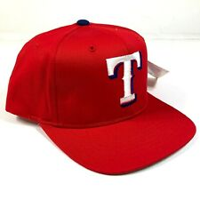 Vintage Texas Rangers Snapback Hat Cap Youth Kids Size Red White Logo New Era