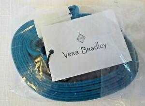 Vera Bradley Bahama Bay Lanyard - Solid Turquoise ID Keys Clip NWT!