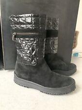 Aquatalia Black Winter Furlined Boots Italy 8