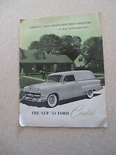 1953 Ford Courier sedan delivery / surf van / panel van brochure - flathead V8