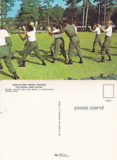 US ARMY COMBAT TRAINING AT FORT JACKSON SC UNUSED COLOUR POSTCARD