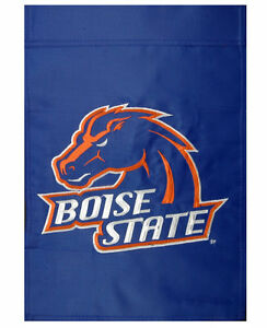"NCAA- Boise State University BRONCOS Logo Garden Flag-12.5""x 18""- FREE SHIPPING"