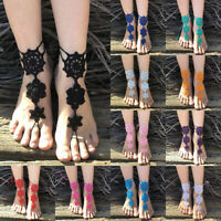 Boho Crochet Foot Jewelry Barefoot Sandal Beach Wedding Charm Anklet Chain New