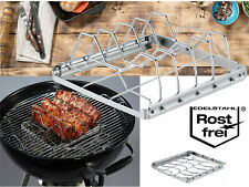 Spareribs- und Baconhalter Grill Premium Zubehör BBQ Barbecue Edelstahl grillen