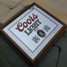 """Vintage 1984 Coors Light Illuminated Sign Mirror ~ 22"""" x 20"""""""