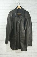 Christian St. John Limited Black Leather Coat Jacket Mens Size 40 Made in Canada