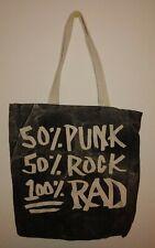 Regina Andrew Detroit Tote Bag 50% Punk 50% Rock 100% RAD cotton purse mail