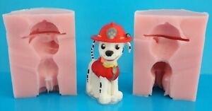 3D PAW PATROL MARSHALL SILICONE MOULD FOR CAKE TOPPERS CHOCOLATE, CLAY ETC