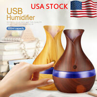 300ml Mini USB Air Aroma Essential Oil Diffuser Mist Maker LED Light Humidifier