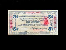 Philippinen (S640) 5 Centavos 1942 AU