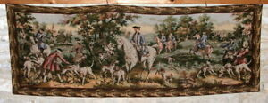 Vintage French Tapestry 158 x 56 cm