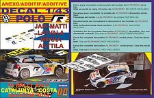 ANEXO DECAL 1/43 VOLKSWAGEN POLO R WRC J-M.LATVALA R R.CATALUNYA 2014 2nd (01)