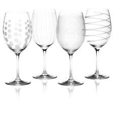 4er SET Rotweingläser CHEERS CRYSTAL MIKASA Glas mit Muster 650ml Creative Tops