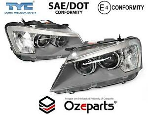 Set Pair LH+RH Head Light Front Lamp Xenon Non Adaptive For BMW X3 F25 10~15