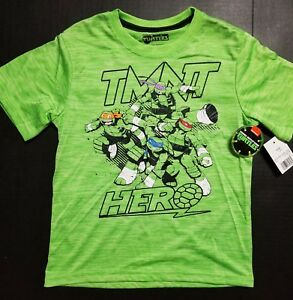 TMNT NWT SILKY T-SHIRT BOY'S SIZE M L XL HERO GREEN ATHLETIC SOFT *FAST SHIPPING