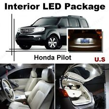 For Honda Pilot 2009-2016 Xenon White LED Interior kit + White License Light LED