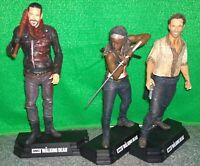 "McFarlane Walking Dead ""Bloody"" Negan + Michonne + Rick Grimes Lot"