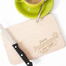"WANDKINGS Frühstücksbrettchen Gravur ""Beste Patentante der Welt"" Geschenk"