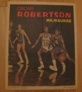 OSCAR ROBERTSON 1970-71 Topps Basketball Poster NBA Milwaukee Bucks 6 1970 HOF