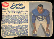 1962 POST CFL FOTBALL #39 Cookie Gilchrist VG Toronto Argonauts Bills Broncos