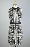 J. MCLAUGHLIN Stretch Geo Print Sheath Dress Size Medium