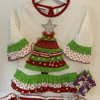 NWT Toddler Girl Christmas Dress Blueberi Bonnie Jean Youngland Carter/'s 2T-4T