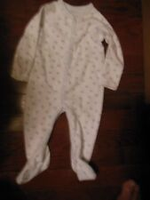 Ralph Lauren Baby Boys Layette Sleeper, 3M, EUC, White w/Blue Blocks,Pima Collec