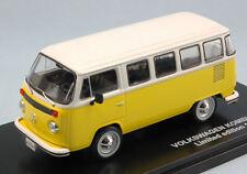 Volkswagen VW T2 Bus Kombi 1976 Yellow / White 1:43 Model TRIPLE 9
