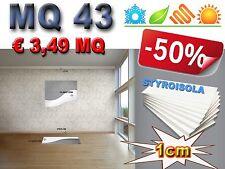 MQ 43 di STYROISOLA 1cm pannelli cappotto isolamento termico acustico e umidità